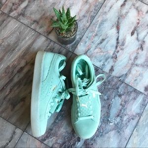New Puma Suede Epic Remix Mint Green size 6.5